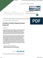 Avoiding Cavitation Damage Extends Pump Life - WaterWorld Oct_2007