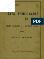 ANGUITA Leyes Promulgadas en Chile Desde 1810 Hasta 1913