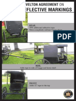 Details of Amish buggy marking agreement