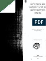 Die Westrussische Kanzleisprache Der Grossfürstentums Litauen 1 1935