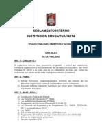 REGLAMENTO INTERNO INSTITUCION EDUCATIVA 14914.doc