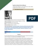 Biografía de Gabriel García Márquez, por federico