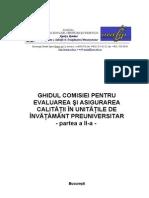 Ghidul Comisiei Pentru Evaluarea Şi Asigurarea CalitĂŢii