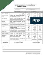 Formato de Resultados Entrevista y Evaluacion Psicologica