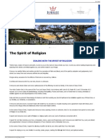 14 Jubilee Resources the Spirit of Religion