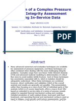 Validation of a Complex Pressure Vessel Integrity Assessment Using In-Service Data
