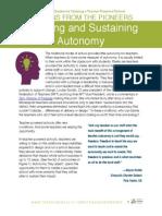 Securing and Sustaining Autonomy