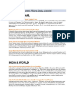 Jan 2015 Current Affairs Study Material