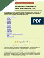 Secte - Mon programme de purification à l'eglise de scientologie de Paris