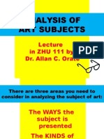 Module 1 Lecture Analysis of Subject