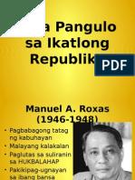 Mga Pangulo Sa Ikatlong Republika