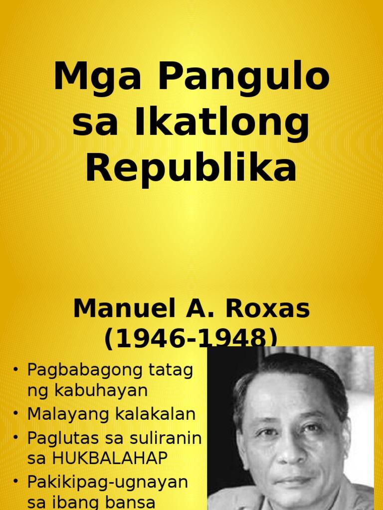 Republika ng pilipinas ikatlong Ikatlong republika