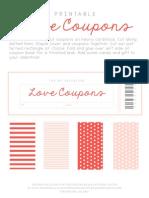 Printable Valentine Love Coupons