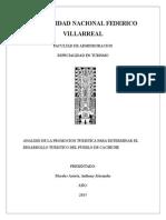 Analisis de La Promocion Turistica Para Determinar El Desarrollo Sostenible Del Pueblo de Cachich