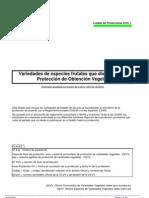 Lista de Protecciones TOV_2010_1