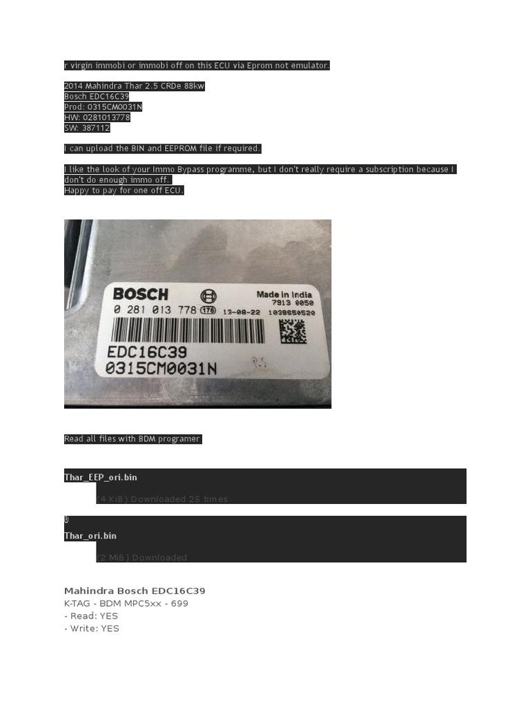 Ecu Bin Files