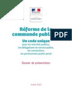 Dossier Presentation Reforme Commande Publique 22-07-2015