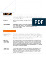 24 Professional Orange CV Template