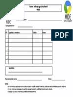 Formulario de Inscripcion Campeonato de MIDE