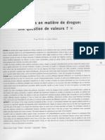 A política criminal de drogas