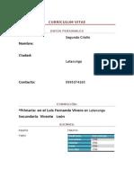 Curriculum Vitae compu