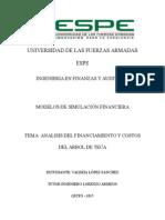 Analisis de Financiamiento y Costos Teca