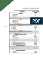 Presupuesto Promedio Para Almacen1