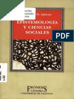 ADORNO- Epistemologia y Ciencias Sociales (Sociologia)
