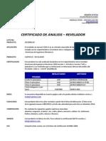2013090118 - Revelador - Certificado de Calidad - Cantesco