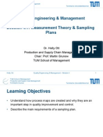 Measurement Theory and Sampling Plans