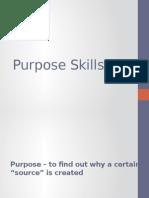 Purpose Skills 2014