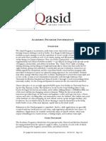 Qasid Institute Program Overview