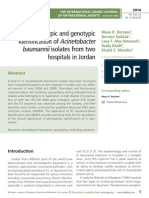 Value of phenotypic and genotypic identifiation of Acinetobacter baumannii isolates from two hospitals in Jordan