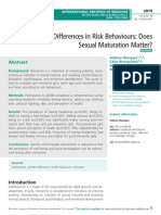 Gender Differences in Risk Behaviours