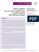 Neuropsychiatric symptoms and associated caregiver stress in geriatric patients with Parkinson's disease