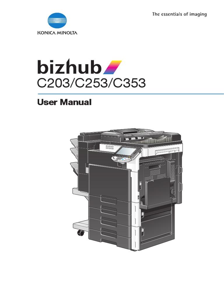 manual konica minolta bizhub c253 printer