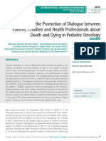 Obstacles to the Promotion of Dialogue between Parents, Children and Health Professionals about Death and Dying in Pediatric Oncology