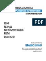 Calendario Ferias Gastronomicas 2015 (22.07.15)
