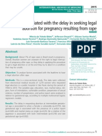 Factors associated with the delay in seeking legal abortion for pregnancy resulting from rape