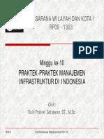 10 Praktek-praktek Mgt infrastruktur