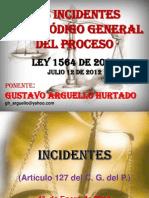 Los Incidentes en El Código General Del Proceso
