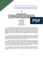 SISTEMA DE INFORMACIÓN GEOGRÁFICO (SIG) A LA INTERPRETACIÓN DEL ASENTAMIENTO DEL SURESTE DE PETÉN