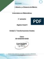 Unidad 2. Transformaciones Lineales