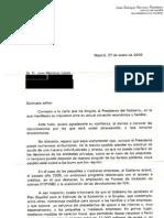 Carta Gobierno Zapatero