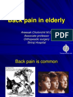 Back Pain in Elderly