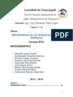 Grupo Nº2 Importancia de La Tecnología en La Empresa