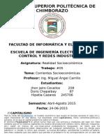 Corrientes Socieconomicas