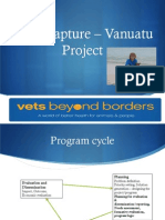 Update on VBB Vanuatu Project