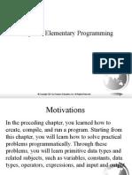 Elementary Programming (1)