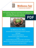 wellness fair flyer